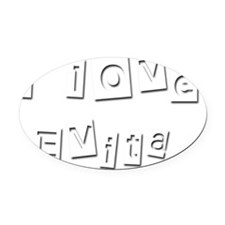 I Love Evita Oval Car Magnet