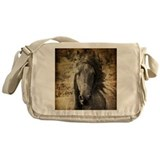 Freisian horse Messenger Bags & Laptop Bags
