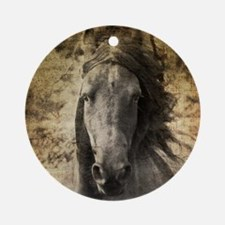 Friesian Horse Round Ornament