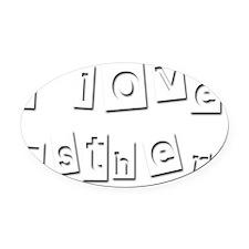 I Love Esther Oval Car Magnet