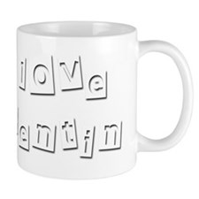 I Love Quentin Small Mug