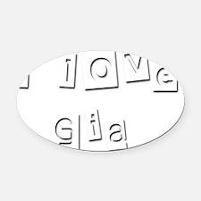 I Love Gia Oval Car Magnet