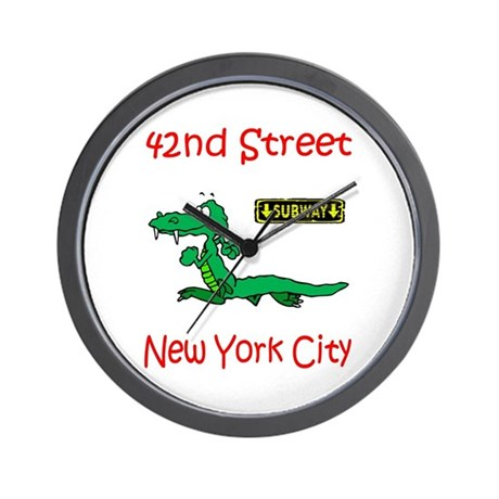 """""""CLICK HERE FOR 42ND NYC TEMS Wall Clock"""