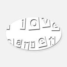 I Love Garret Oval Car Magnet