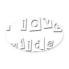 I Love Hilda Oval Car Magnet