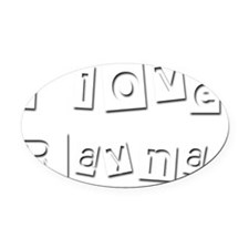 I Love Rayna Oval Car Magnet
