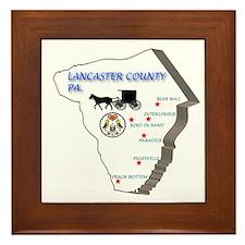 Lancaster County Pa. Framed Tile
