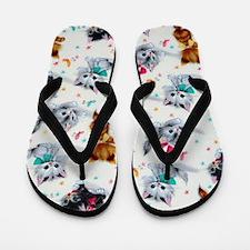Cute Kittens Flip Flops