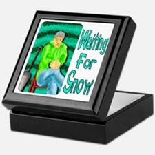 Waiting for Snow Keepsake Box