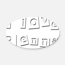 I Love Renna Oval Car Magnet