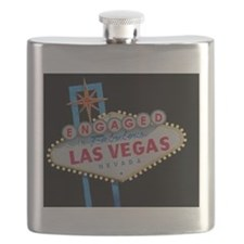 Engaged In Las Vegas Card Flask
