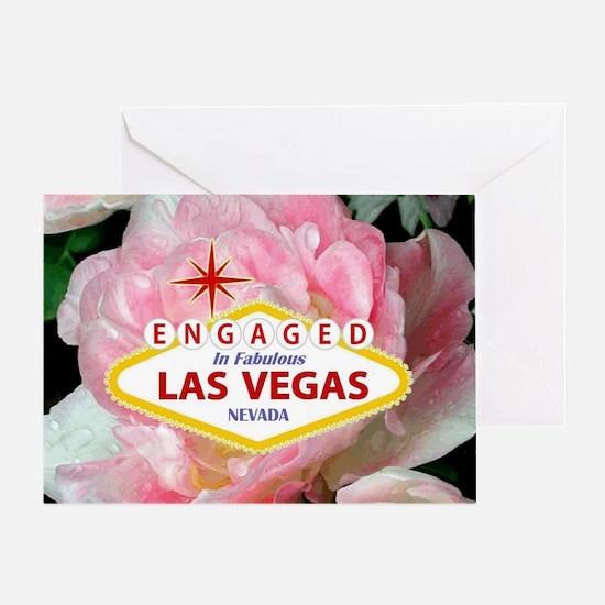 Engaged In Las Vegas Card Greeting Card