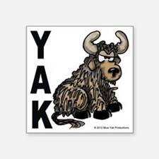"YAK 5x5 Square Sticker 3"" x 3"""