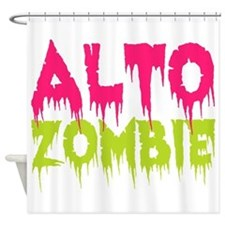 Choir Alto Zombie Shower Curtain