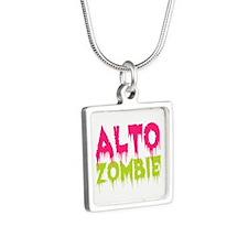 Choir Alto Zombie Silver Square Necklace