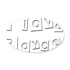 I Love Royce Oval Car Magnet