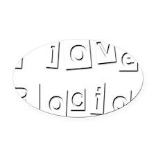 I Love Rocio Oval Car Magnet