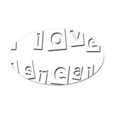 I Love Isreal Oval Car Magnet