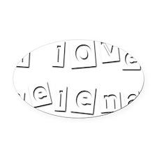 I Love Selena Oval Car Magnet