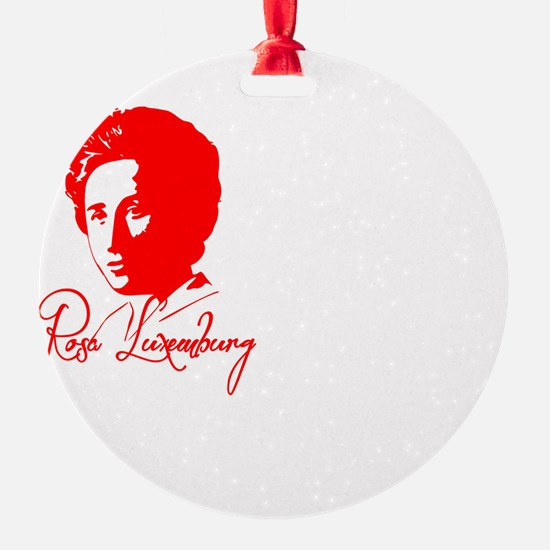 Rosa Luxemburg with Quote Ornament