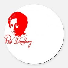 Rosa Luxemburg with Quote Round Car Magnet