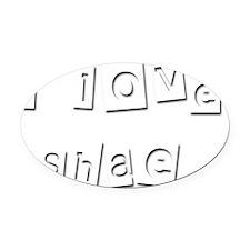 I Love Shae Oval Car Magnet
