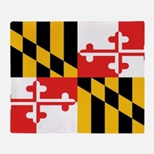 Maryland State Flag Throw Blanket