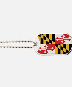 Maryland State Flag Dog Tags
