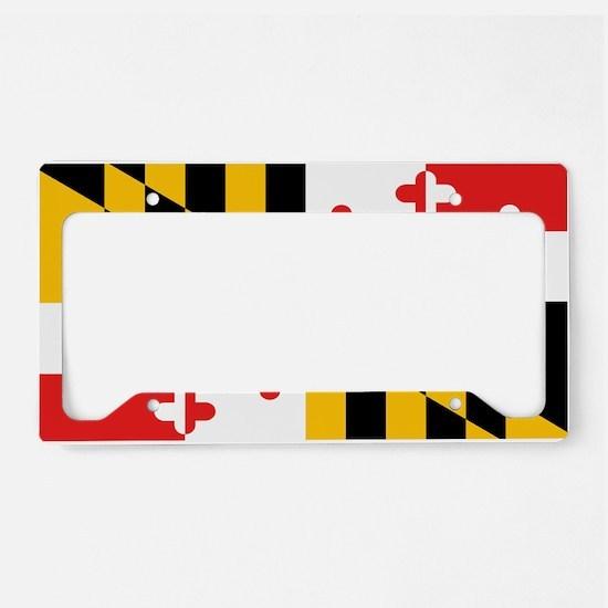 Maryland State Flag License Plate Holder