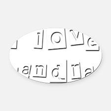 I Love Sandra Oval Car Magnet