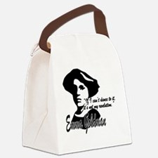 Emma Goldman with Quote Canvas Lunch Bag