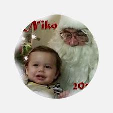 """Niko Ornament 02 3.5"""" Button"""