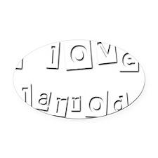 I Love Jarrod Oval Car Magnet