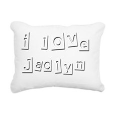 I Love Jaclyn Rectangular Canvas Pillow