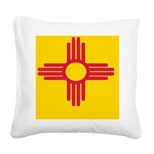New Mexico State Flag Square Canvas Pillow