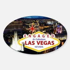 Engaged In Las Vegas Card Decal