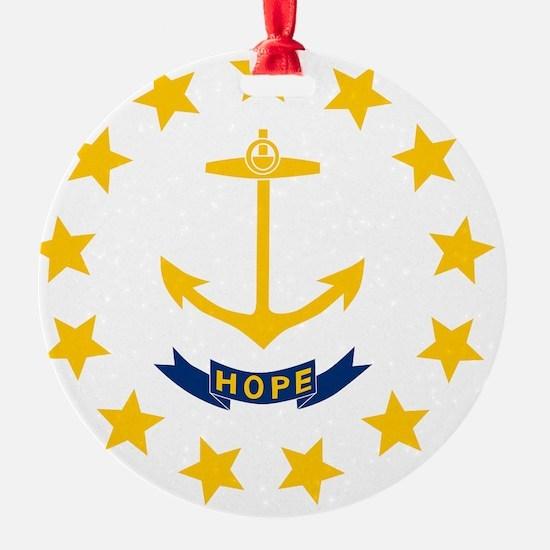 Rhode Island State Flag Ornament