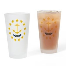 Rhode Island State Flag Drinking Glass