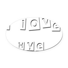 I Love Hye Oval Car Magnet