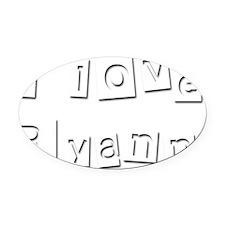 I Love Ryann Oval Car Magnet
