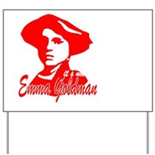Red Emma With Quote Yard Sign