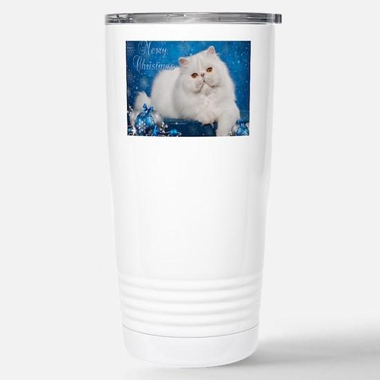 Perisan Cat Christmas C Stainless Steel Travel Mug