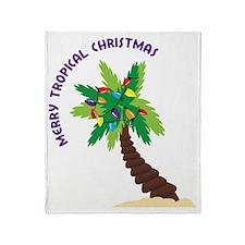 Merry Tropical Christmas Throw Blanket