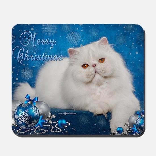 Perisan Cat Christmas Card Mousepad