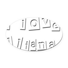 I Love Iliana Oval Car Magnet