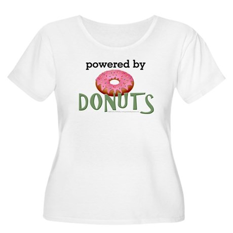 Powered By Donuts Women's Plus Size Scoop Neck T-S