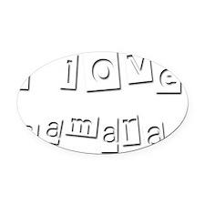 I Love Samara Oval Car Magnet