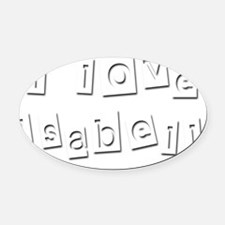 I Love Isabell Oval Car Magnet