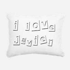 I Love Javier Rectangular Canvas Pillow