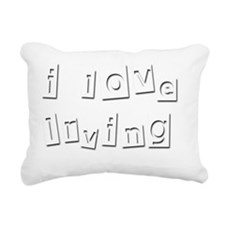 I Love Irving Rectangular Canvas Pillow